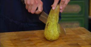 нарезаем грушу
