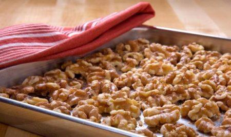 просушить грецкие орехи