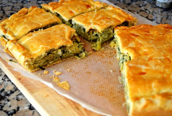 пирог нарезанный на куски