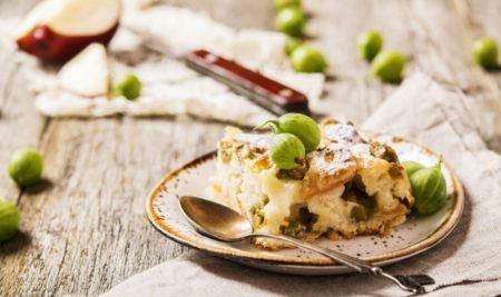 пирог с крыжовником и яблоками
