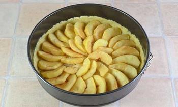 выложить начинку пирога