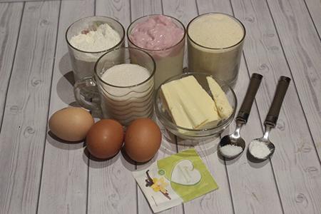 Ингредиенты манника на йогурте