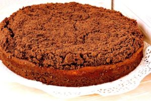 готовый шоколадный пирог