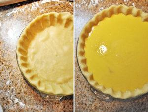 Выкладываем пирог в форму слоями