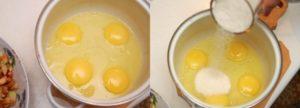 вбиваем яйца в кастрюлю