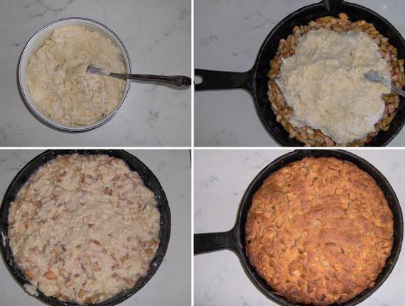 Шарлотка в сковороде на плите рецепт