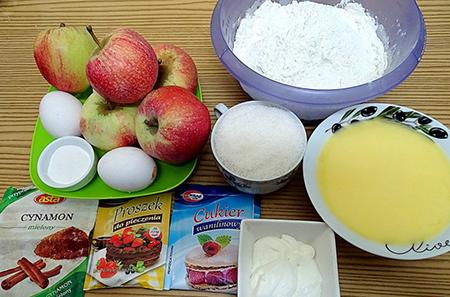 Ингредиенты для засыпного пирога
