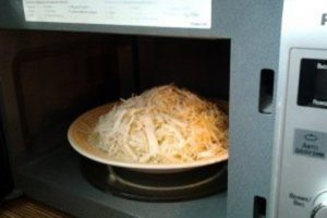 размягчить капусту в микроволновке