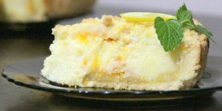 Творожный кусочек пирога