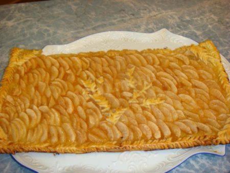 готовый пирог из бездрозжевого теста