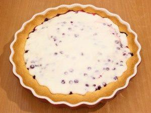 Горячий пирог залить кремом