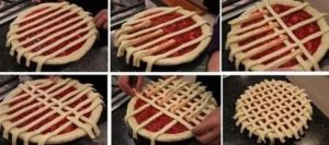 Делаем на пироге сеточку