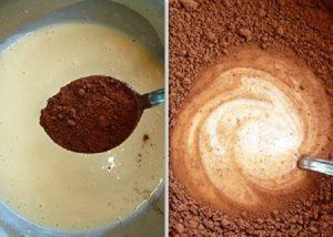 Всыпьте порошок какао