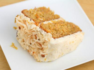 кусок пирога с морковью