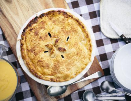 Пирог в тарелке