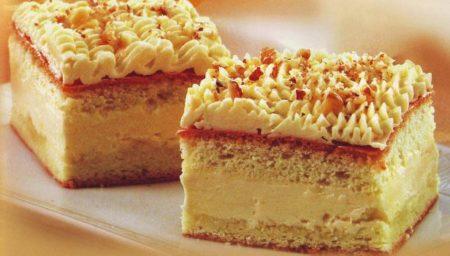 Бисквитный кусок пирога на тарелке
